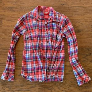 Dickey's  Plaid Flannel Button Up